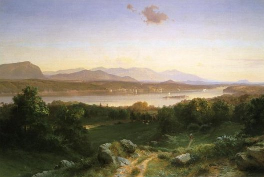 View Of The Hudson From Hyde Park