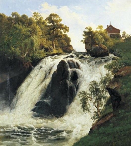 View Of The Waterfall At Stora Mollan, Sweden