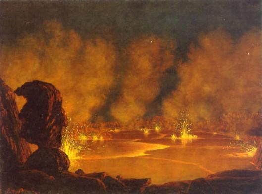 Volcanic Eruption At Mauna Loa