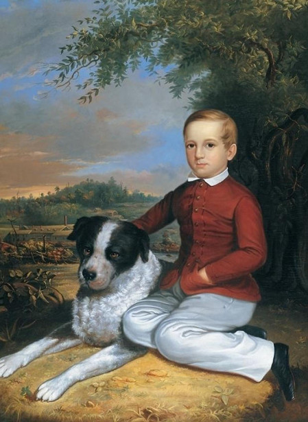 A Boy With Dog