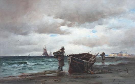 Fisher Folk On The Beach