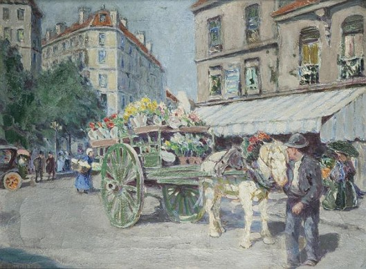Flower Cart, Paris