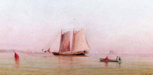 Misty Morning In New York Bay