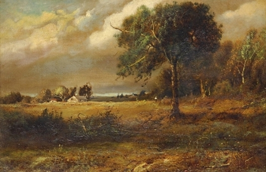 New York Landscape - Farmer In A Field