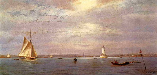 Robin's Reef Lighthouse Off Tomkinsville, New York Harbor