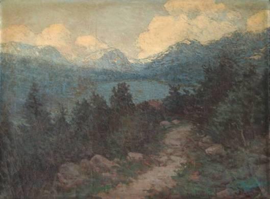 Sherburne Lake And Mountains