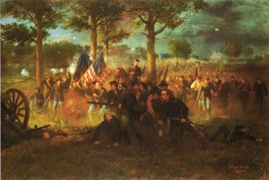 Vermont Division At The Battle of Chancellors