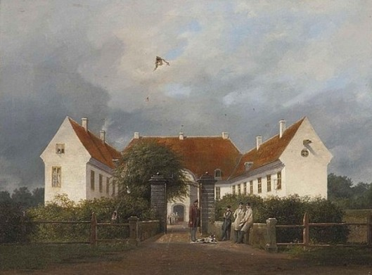 Figures Before A Great House