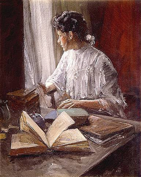 Girl Reading By A Window
