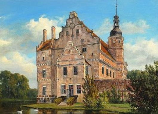 The Renaissance Manor House Ørbæklunde On The Island Of Funen