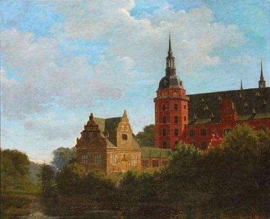 View From Frederiksborg Castle In Denmark