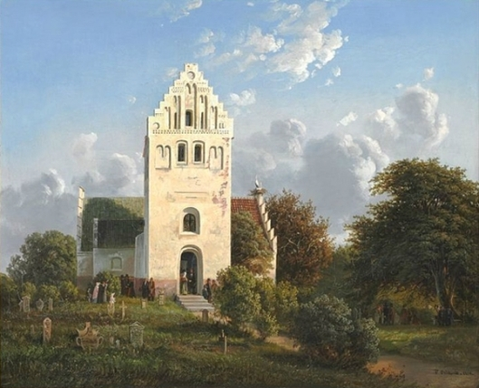 View Of Skamby Church On Funen