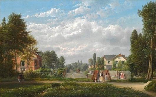 View Of The Actress Mrs. Heiberg's Villa On Rosenvaengets Allé