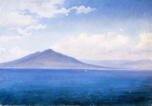 Bay Of Naples, Vesuvius From Sorrento