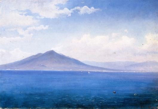 Bay Of Naples, Vesuvius From Sorrento