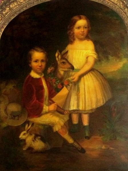 Charles Yale Beach And His Sister Emma Beach