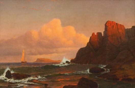 Coastal Sunset - Sailing Into The Sunset