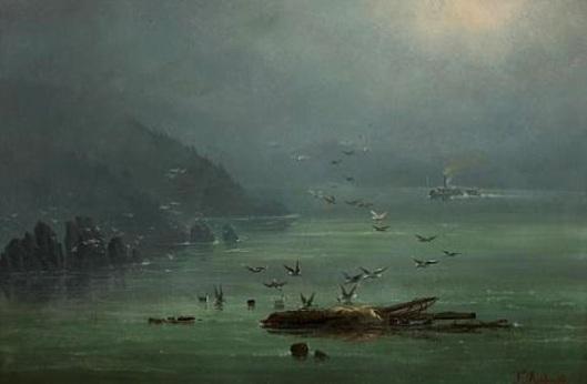 Fog Scene On The Saint-Lawrence River, New York State