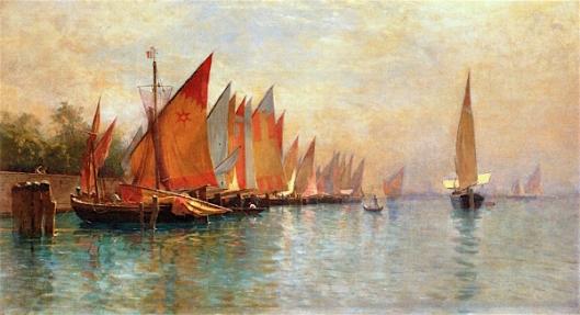 Row Of Fishing Boats, Venice