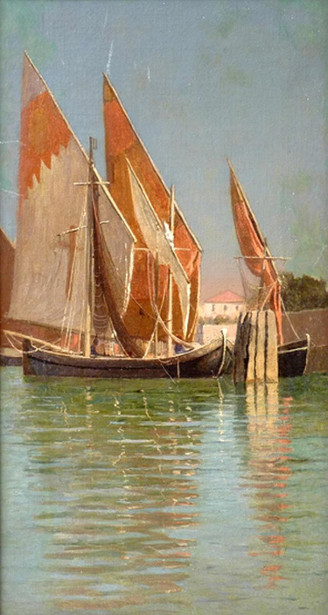 Sailing Boats On The Venetian Lagoon