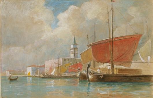 Shipping Along The Molo In Venice