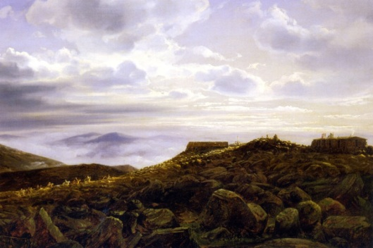 Summit Of Mount Washington In The White Mountains