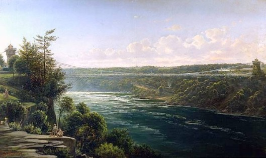 Suspension Bridge Over The Niagara River