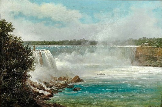 View Of Niagara Falls Seen From Prospect Point On The American Side