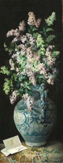 A Vase Of Lilacs