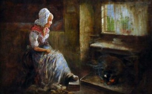 Dutch Woman In Interior