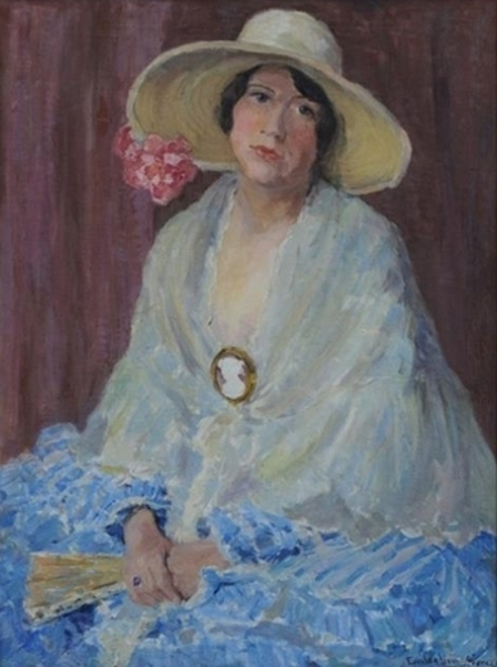 Lady With White Hat