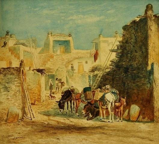 Pueblo And Burros
