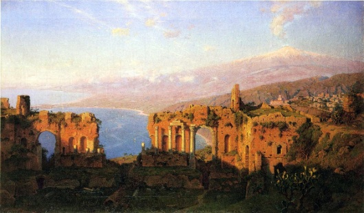 Ruins Of The Roman Theatre At Taormina, Sicily