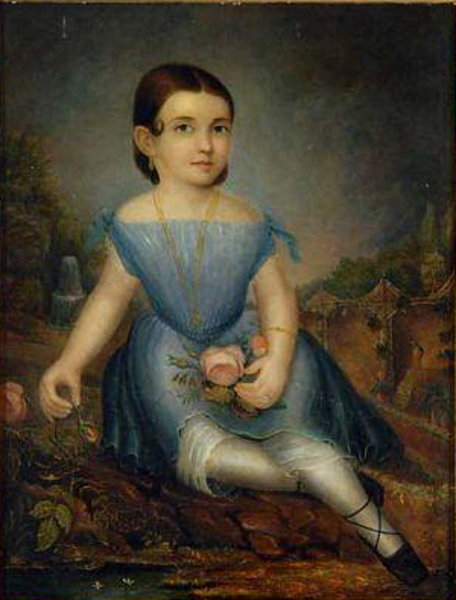 Small Child With Pink Rose