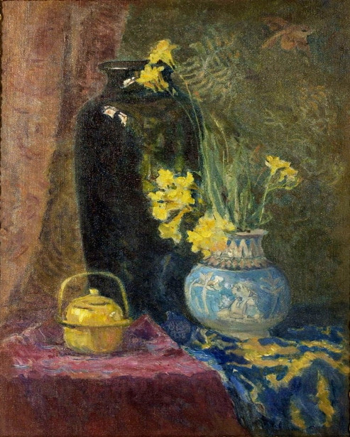 Still Life With Vases And Flowers