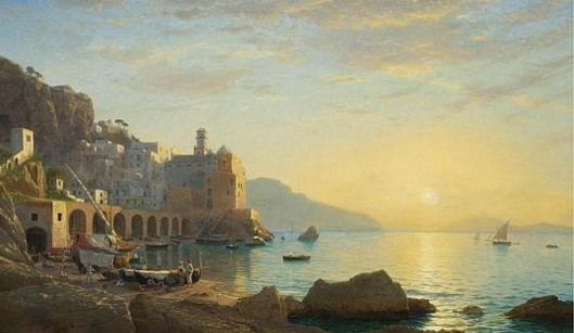 Sunset Along The Amalfi Coast
