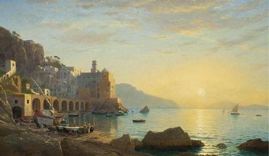 Sunset Along The Amalfi Coast