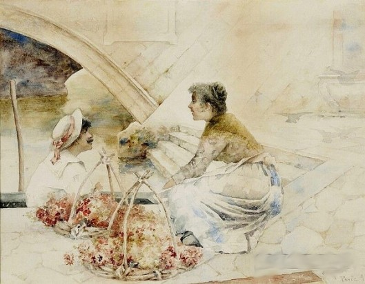 The Flower Vendor And The Gondolier