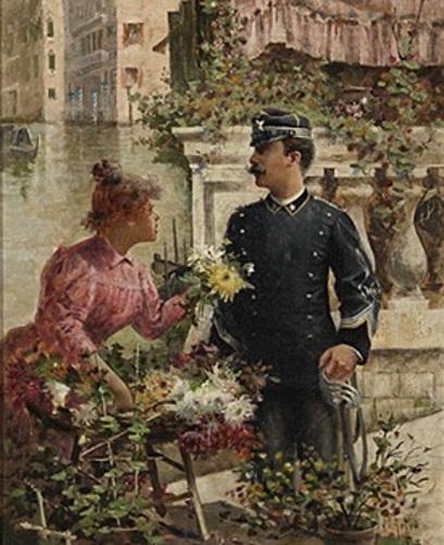 Venetian Flower Girl