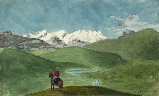 Andes Near Alparmarca, Peru
