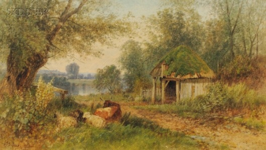 Landscape With Cottage And Livestock
