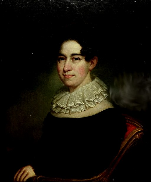 Woman With A Lace Neck Ruffle