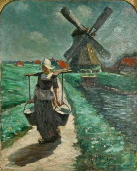 A Volendam Milkmaid