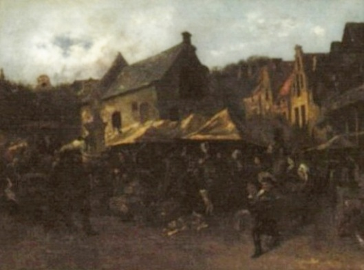 Dutch Market Scene