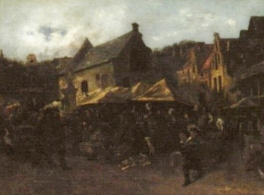 Dutch Market Scene