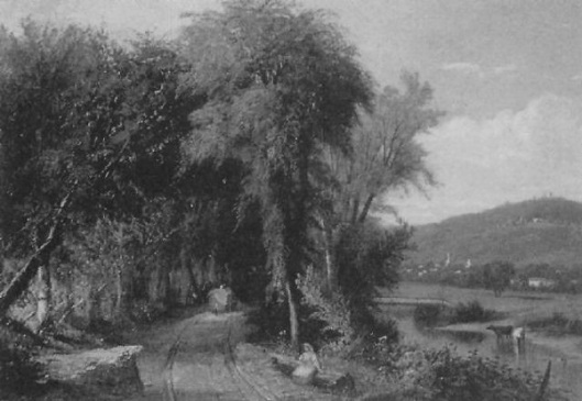 Haywagon On A River Road