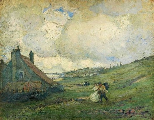Landscape, House By The Sea