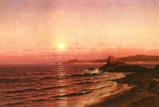 Moonrise Over Sea Coast