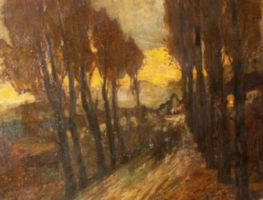 Road Through Woods, Evening