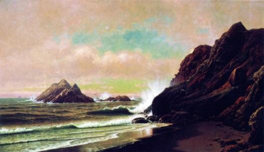 Seal Rocks From Under The Cliffs, San Francisco, California